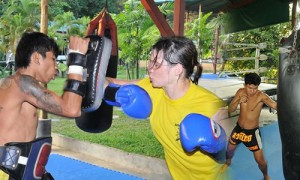 developing punches -- muay thai training camp